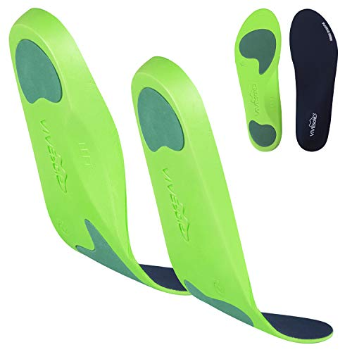 ViveSole Plantar Fasciitis Insoles - Foot Arch Support Orthotic - Firm Foam Shoe Inserts for Men,...
