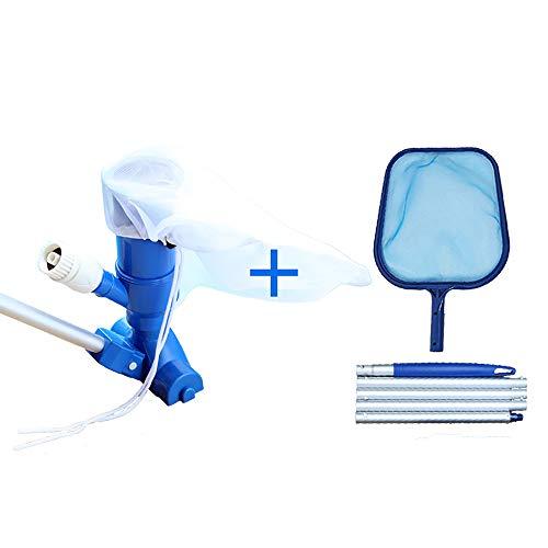Decdeal Kit de Limpieza de Piscinas, Aspirador Desnatadora Herramientas de Mantenimiento para Limpiar Los Desechos de La Superficie Flotante o Aspirar Los Desechos