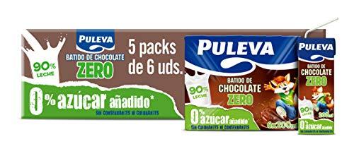 Puleva Batido Chocolate Zero Sin Azúcar Añadido 5 packs de 6x200 ml