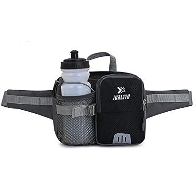 Sac de taille avec bouteille d'eau, compatible avec Ipad Mini Fanny Pack Sac de taille pour sports de plein air Sac banane Sac à bandoulière grande capacité pour la course à pied Cyclisme Randonnée
