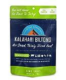 Lime Chili Kalahari Biltong, Air-Dried Thinly Sliced Beef, 2oz (Pack of 1), Sugar Free, Gluten Free,...