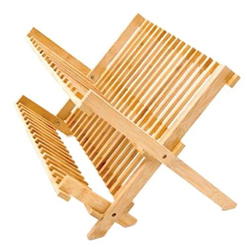 木製折りたたみ食器ラック水切りラック食器ホルダー