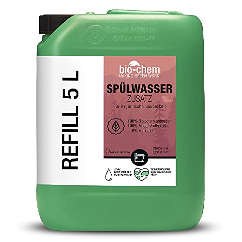 Bio-Chem Bio Spülwasser-Zusatz WC-Reiniger Rinse Flush für Camping-Toilette, Chemietoilette und Mobile Toilette, Konzentrat 5 Liter Kanister