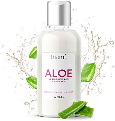 Teami Organic Aloe Vera Gel 100 Natural with Pure Manuka Honey Tea Tree and Rosemary Oil Bursting product image