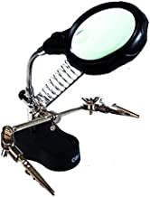 OBI - Lupa con Luz Led Pinzas Base para Cautín Reparar