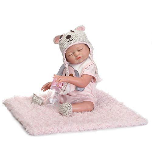 ZIYIUI 20pulgadas 50cm Vinilo de Silicona de Cuerpo Completo Reborn Baby Doll Especialmente se ve como un bebé Real Niña muñeca
