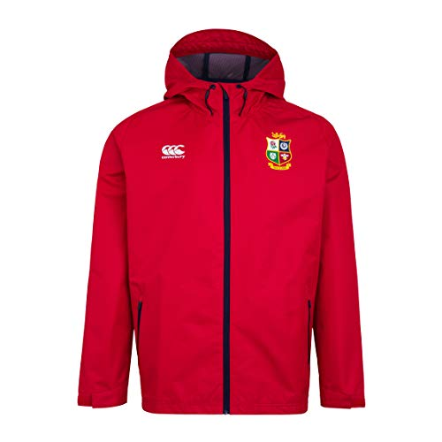 Canterbury of New Zealand British and Irish Lions Rugby - Giacca impermeabile da uomo, Uomo, Giacca, 5054773330029, Rosso Tango., XL