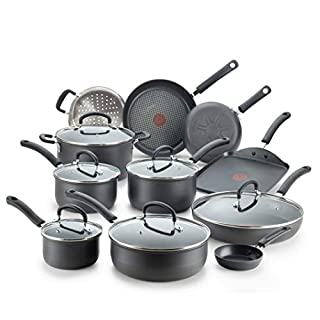 T-fal Ultimate Hard Anodized Nonstick 17 Piece Cookware Set, Black (B00TQJWF1I) | Amazon price tracker / tracking, Amazon price history charts, Amazon price watches, Amazon price drop alerts
