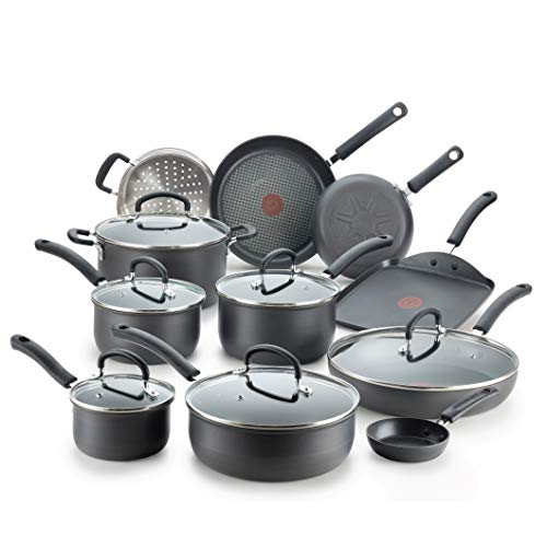 T-fal E918SH Ultimate Hard Anodized Scratch Resistant Titanium Nonstick Thermo-Spot Heat Indicator Anti-Warp Base Dishwasher Safe Oven Safe PFOA Free...