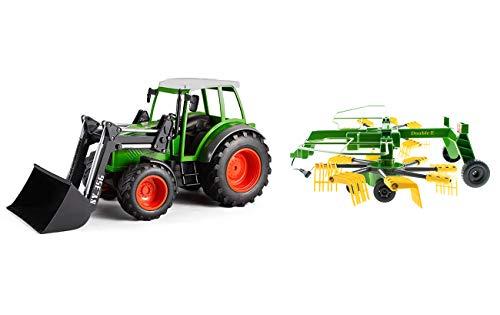 efaso Double E E356-003 RC Traktor mit Schaufel 2,4GHz 1:16 RC Trecker mit Schaufel + Heuwender S052-003