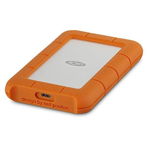 LaCie Rugged Mini 2 TB USB-C + USB 3.0 Portable 2.5 inch External Hard...