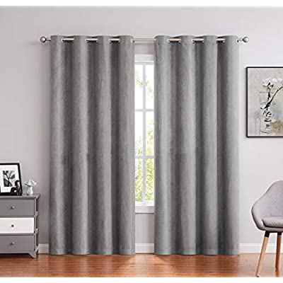 Amazon - Save 20%: Randall Faux Suede Window Curtain Panels 63 Inch Length with Gromm…