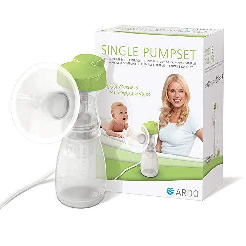 Ardo Single Pumpset für die elektrischen Milchpumpen Calypso und Carum – Sicheres & hygienisches Zubehör zum schnellen Abpumpen von Muttermilch – BPA-frei