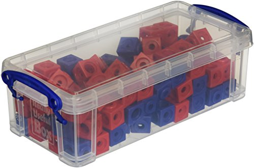 Dick-System 170100 100 Steckwürfel rot/blau in der Box, Kantenlänge 1,7 cm