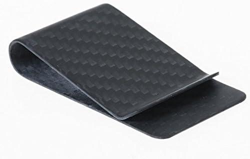 Carbon Fiber Money Clip Card Cash Holder Slim Wallet Matte Black