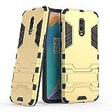 GUOQING Coque de protection pour téléphone One Plus 6T avec support - Robuste - Couleur : jaune