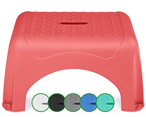 Ondis24 Tritthocker Step Stool mit bis zu 150 kg belastbar (Sunrise Pink)
