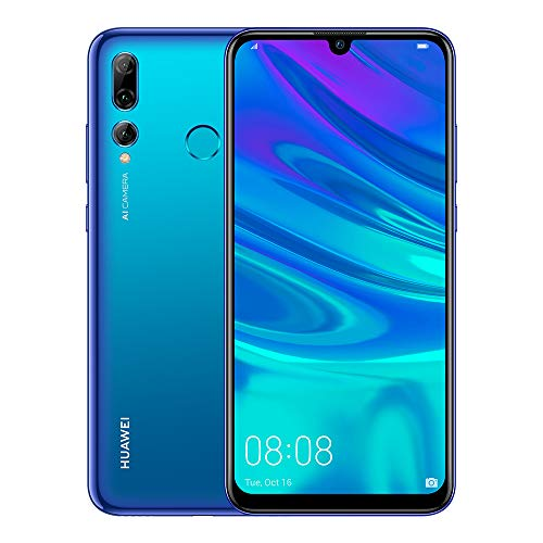 HUAWEI P Smart+ 2019, Smartphone, LTE, Système d'exploitation: Android 9.0 (Pie), Capacité: 512 GB, écran FHD+, 415 ppi 6.21 pouces, Camera 24+16+2 MP, f1.8 f2.2 (grandangolare) f2.4 Al, Blue [Italia]