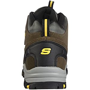Skechers Men's Relment Pelmo Hiking Boot, khk, 12 Wide