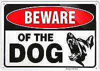 SHanguoYレトロおかしい金属錫サイン8 x 12インチ(20 * 30 cm) 犬ブリキ看板警告通知パブクラブカフェホームレストラン壁の装飾アートサインポスター(jfd-3-3)