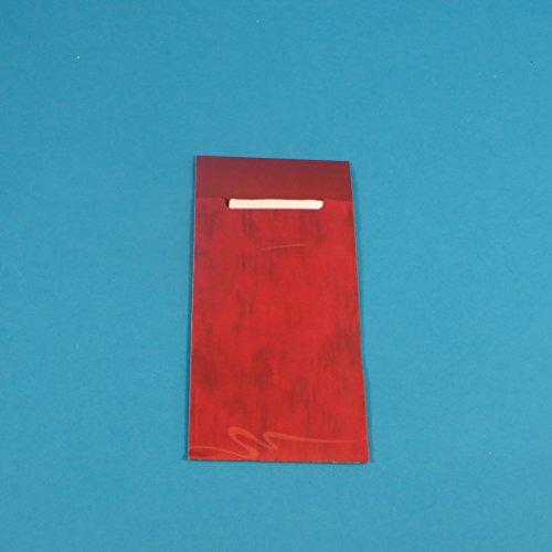 520 Bestecktaschen Serviettentaschen Hartpapier 85x200mm Bordeaux rot inklusive Serviette 40x40cm 2lg weiß