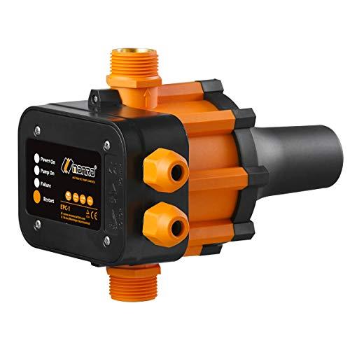 TRUSTTO EPC-1 Druckwächter Druckschalter Pumpensteuerung Hauswasserwerk Gartenbewässerung 10bar(Max) Automatischer Wasserpumpen-Druckregler elektronischer Druckregler by Monro (Ohne Kabel)