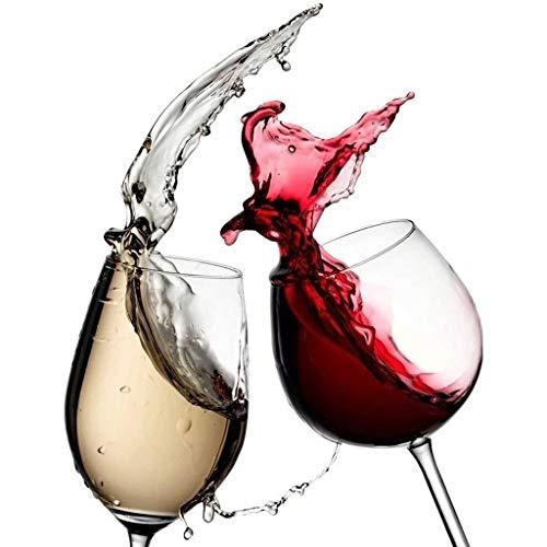 Xdszs Copas de Vino 3D Lavavajillas Frigorífico Congelación Etiqueta engomada Arte Frigorífico Cubierta Cubierta Papel Tapiz Accesorio de Cocina (Size : Small)