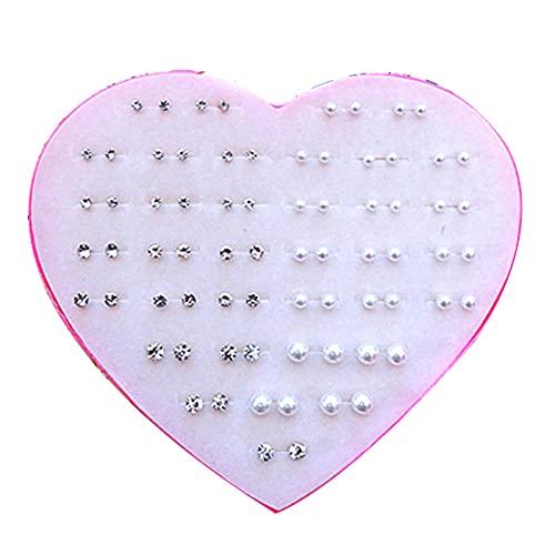 Aretes 39 pares de aretes grandes medianos y pequeños cien talts mini ultra-pequeño anti-alérgico de plástico de plástico pegamento pegamento