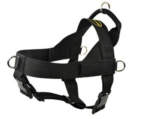 Dean & Tyler D&T UNIVERSAL BK-XL DT Universal No Pull Dog Harness with Adjustable Straps, X-Large, Fits Girth, 91cm to 119cm, Black