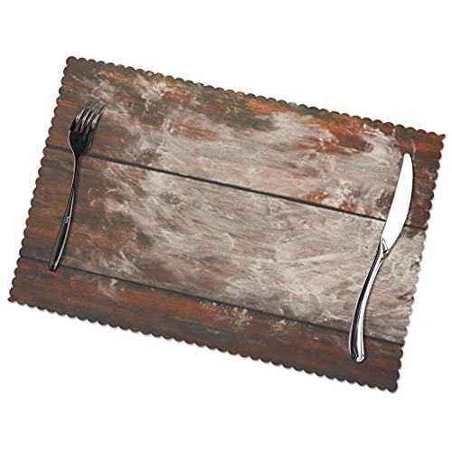 KAZOGU Juego de 6 manteles individuales para hornear en madera, fácil de limpiar, antideslizante