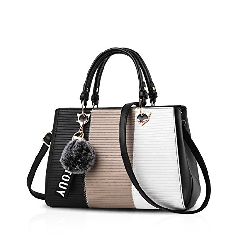 NICOLE&DORIS Dame Handtaschen Reisetasche Schultertasche Taschen Umhängetasche PU Khaki