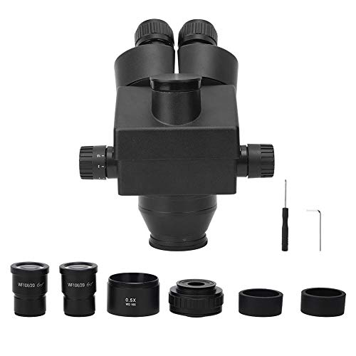Microscopio, Microscopio Stereo Trinoculare Industriale In Lega di Alluminio 7-45X, con Obiettivo Zoom 0,7X-4,5X, per Manutenzione Circuiti Elettronici, Analisi Tessile, Assemblaggio Industriale