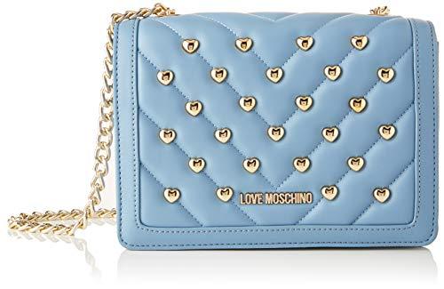Love Moschino Damen Jc4234pp0a Umhängetasche, Blau (Light Blue Matt), 8x15x21 Centimeters