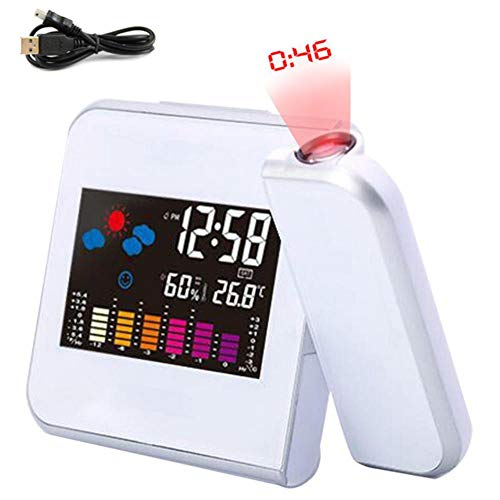 SKDHGFKAJSHJFKDHJK Digitale wekker, met weerstation, thermometer, kalender, datumweergave, veranderen van de sluimer-digitale klok