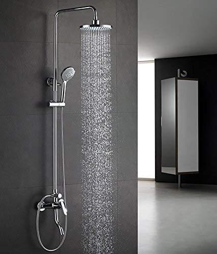 ZCYXQR Set de Ducha para bañera Mezclador de Ducha de Lluvia de Acero Inoxidable con Plato de Ducha y Cabezal de Ducha