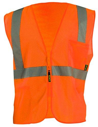 Occunomix ECO-IMZ-O3X - Chaleco de malla con cremallera estándar, clase 2, 3XL, color naranja