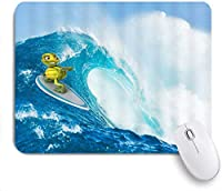 マウスパッド 個性的 おしゃれ 柔軟 かわいい ゴム製裏面 ゲーミングマウスパッド PC ノートパソコン オフィス用 デスクマット 滑り止め 耐久性が良い おもしろいパターン (オーシャンウェーブファニータートルリトルタートルサーフィン)