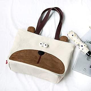 Bear Shoulder Bag Cute Student Canvas Large Capacity Bag