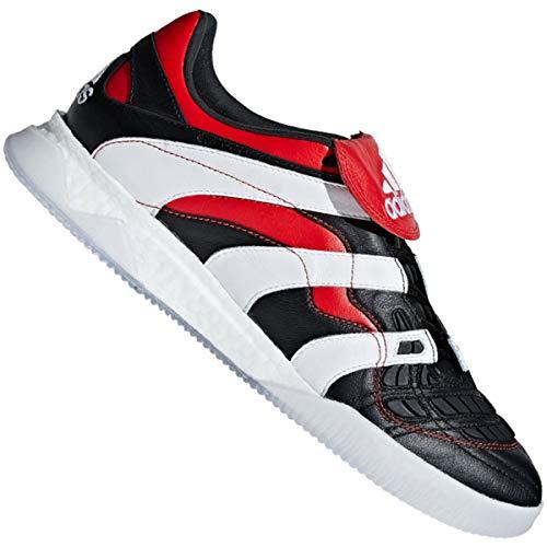adidas Herren Predator Accelerator Fußballschuhe, Schwarz (Cblack/Ftwwht/Red Cblack/Ftwwht/Red), 46 EU