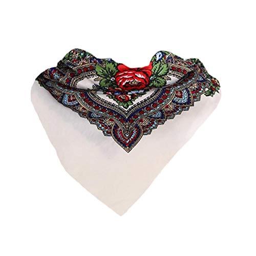 Baihua - Pañuelo para la cabeza, elástico, absorbente de sudor, de algodón, para mujer, style4