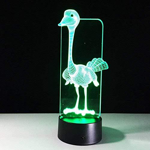 OUUED 3D Lámpara de ramo de luz nocturna 3D 7 colores LED Luces de noche para niños Lámpara de mesa LED táctil Usb Sara Sleeping Nightlight Sensor Lámpara LED Niños, Bonito regalo Cadea