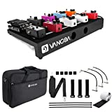 Vangoa Guitar Pedal Board, Aluminum Alloy Effects Pedalboard, 3lb, 16.7' x 11.6', Sturdy Legs, with Premium Waterproof Carry Bag, Patch Cable, Wire Management Tools