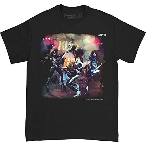 Kiss Glam Metal Hard Rock Band Music Group Alive Volwassene T-shirt T-shirt