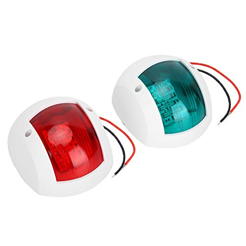 Par de luces de barco, lámpara de señalización LED de navegación, 3 W, 12 V/24 V, ABS, luz de advertencia de navegación para barco marino, yate, rojo + verde