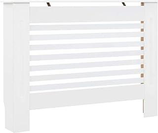 vidaXL Cubierta para Radiador MDF Accesorios Calefacción Salón Aporte Moderno Elegante Protección Función Decorativa Robusta Blanca 112x19x81.5cm