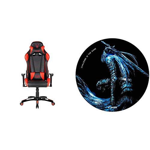 Woxter Stinger Station Red - Silla Gaming + Alfombrilla Gaming de Suelo