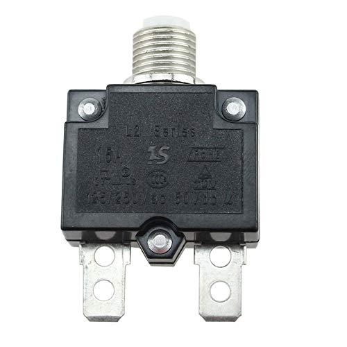 fghdf 5A / 10A / 15A / 20A / 30A Pulsador rearmable disyuntor térmico de montaje en panel