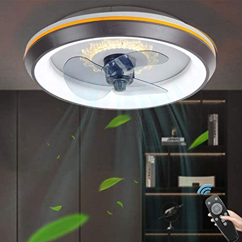 Ventilador De Techo Moderno con Iluminación LED, Plafón Regulable 80W con Mando A Distancia, 3 Velocidades De Viento Regulables, para Salón Dormitorio Comedor (Ø50CM)