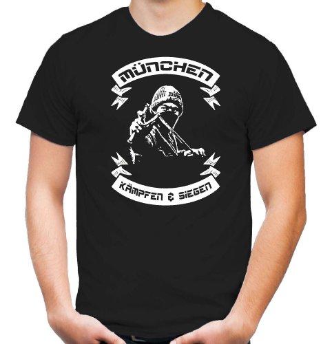 München kämpfen & Siegen T-Shirt | Fussball | Basketball | Bayern | Trikot | Ultras | Männer | Herren | Fanshirt | M2 (L)
