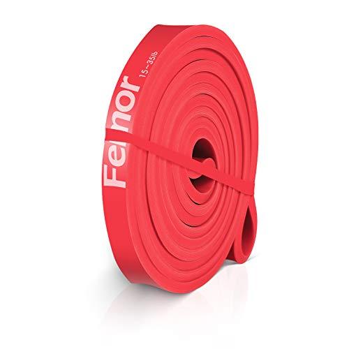 femor Resistance Bands, Premium Widerstandsbänder, Fitnessbänder Gymnastikband 100{0ef99dacce518ff58866900b0987492fcac483cb08a90c692bec77fa75985b90} Naturlatex mit Übungsanleitung, Klimmzugbänder für Krafttraining & Fitness-Trainings-Bänder, Rot